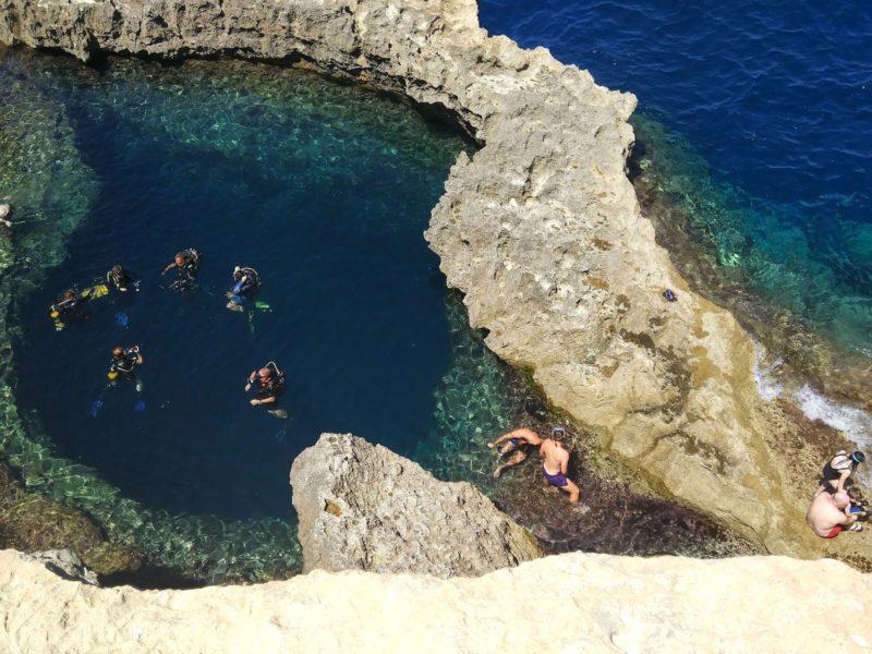 Blue hole - Gozo, Malta