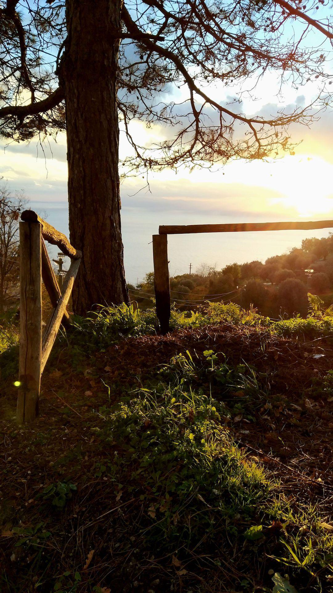 Zachód słońca we włoskiej wsi - Spilinga, Włochy