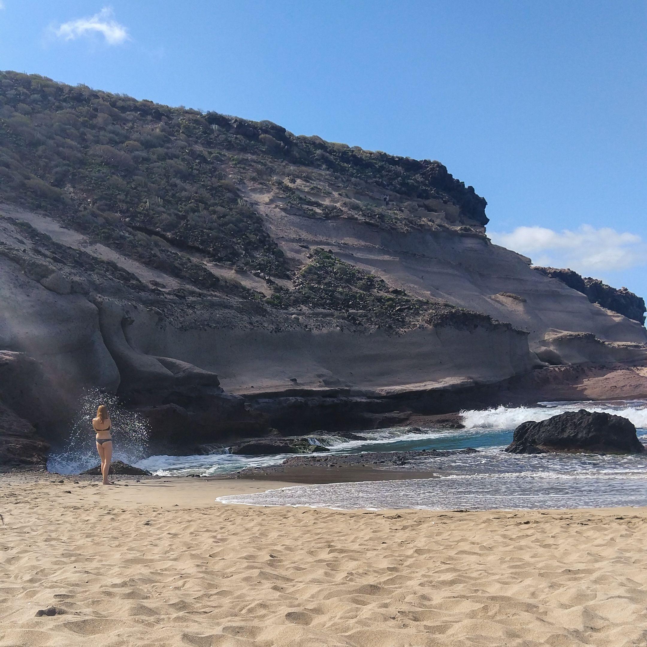 Na plaży - playa de Diego Hernandez, Teneryfa