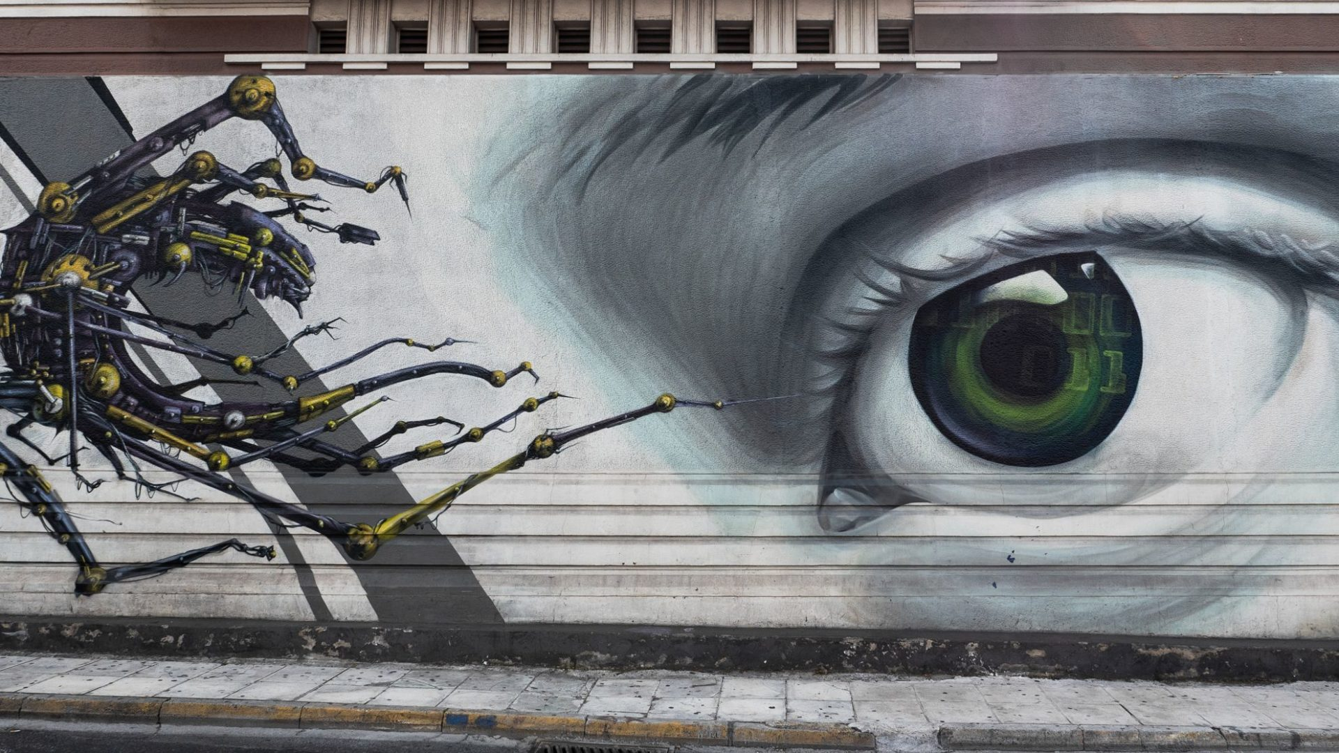 Graffiti oko, Ateny, Grecja